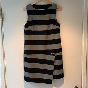 Banana Republic asymmetrical striped dress
